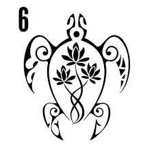 Flower Turtle Vinyl Decal Marquesantattoos Tribal Turtle Tattoos Hawaiian Turtle Tattoos Maori Tattoo