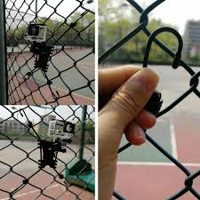 Action Camera Backstop Chain Link Fence Mount Record Sports Games For Gopro Ebay