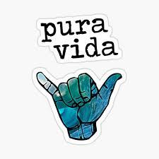 Pura Vida Sticker By Ch4lie Redbubble