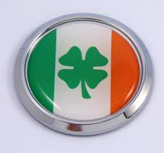 Ireland Irish Round Flag Car Chrome Decal Emblem Bumper Sticker Bezel Car Chrome Decals