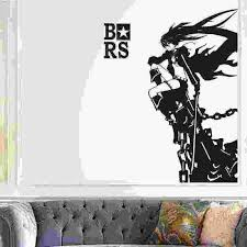 Black Rock Shooter Tokyo Ghoul Wall Decal Vinyl Wall Stickers Decal Decor Home Decorative Decoration Anime Brs Car Sticker Wall Stickers Aliexpress