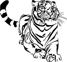 Tiger Wall Decals Kritters In The Mailbox Tiger Wall Decal