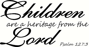 Amazon Com Psalm 127 3 Wall Art Children Are A Heritage From The Lord Creation Vinyls Home Kitchen