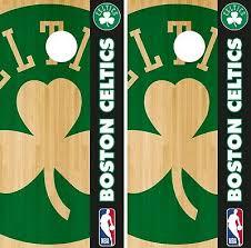Boston Celtics Cornhole Wrap Nba Court Game Board Skin Set Vinyl Decal Co560 Cornhole Bag Toss