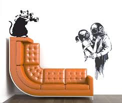 Wall Decal Banksy Rat Paparazzi Graffit Rat With Camera Wall Etsy