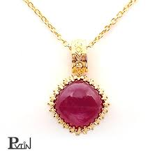 lady s necklace pendant ruby nature