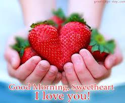 good morning sweetheart morning greets