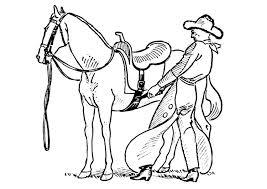 Kleurplaat Cowboy Zadelt Paard Gratis Kleurplaten Om Te Printen