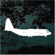 C130 Hercules Aircraft 01 Decals Car Window Stickers Decal Junky