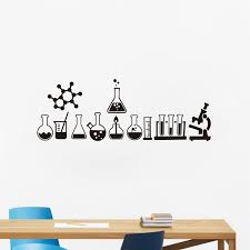 Science Wall Sticker Laboratory Decor Science Is Cool Vinyl Decals Mural Geek Wall Art Decals Bedroom Chemistry Poster Sticker Wall Stickers Aliexpress