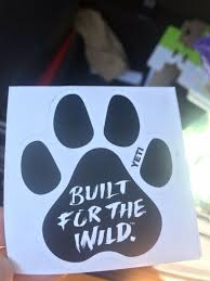 Yeti Built For The Wild Window Decal White One Size For Sale Online Ebay