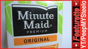 minute maid orange juice box w