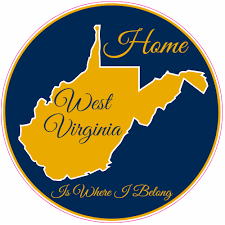 West Virginia Home Is Where I Belong Sticker U S Custom Stickers