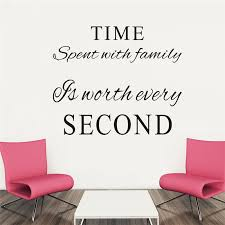 Time Spent With Family Quotes Vinyl Wall Decals Living Room Home Decor Diy Indoor Wall Decals Black Mural Art Decoration Time Spent With Family Time Spenthome Decor Aliexpress