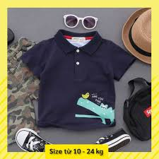 Thời trang quần áo trẻ em bé - Áo thun bé trai cá sấu họa tiết cá sấu cho bé  từ 2, 3,4, 5, 6, 7, 8 tuổi xanh trắng cam giảm chỉ còn 135,000 đ
