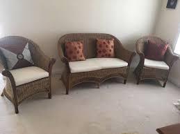 cane sofa set with cushion rarely used