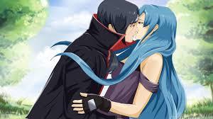 Anime Ninja Girl With Blue Hair Wallpapers Desktop Background