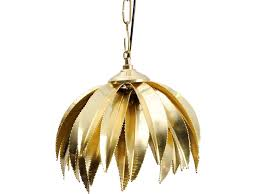 brass palm leaves pendant light