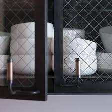 wire mesh kitchen cabinet doors design