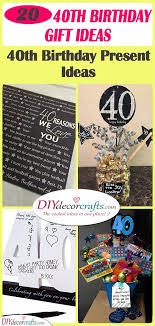 40th birthday gift ideas a pick of