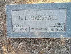 """Elzie Lawrence """"E.L."""" Marshall (1878-1936) - Find A Grave Memorial"""