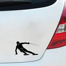 Buy Car Sticker Skiing Pattern Removable Waterproof Car Decal Car Sticks Decals At Jolly Chic