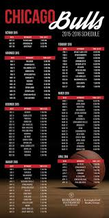 Chicago Bulls 2015/16 Schedule | Chicago bulls, Schedule, Chicago