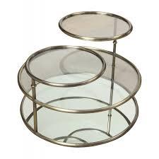 milo tiered swivel glass coffee table