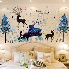 Deer Tree Wall Stickers Diy Girl Piano Wall Decals For House Kids Rooms Baby Bedroom Nursery Decoration Buy At The Price Of 5 69 In Aliexpress Com Imall Com
