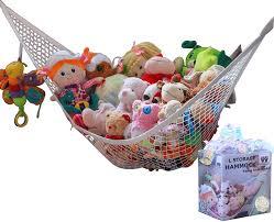 Amazon Com Miniowls Toy Storage Hammock Plush Animal Organizer For Bedroom Wall Gift Idea For Baby Girl Boy Birthday Or Shower White Large Baby