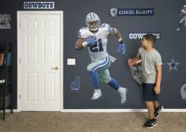 Ezekiel Elliott Fathead Wall Decal Dallas Cowboys Bedroom Cowboy Bedroom Dallas Cowboys Room
