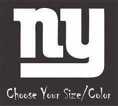 New York Giants Football Vinyl Decal Sticker For Nfl Ca