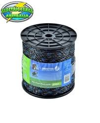 Nemtek Poly Rope 6mm Mix6 Black 200m Electric Fence Australia