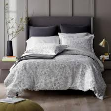 gray fl cotton twin duvet