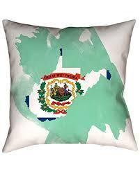 ArtVerse Katelyn Smith West Virginia Watercolor Pillow Throw Pillows