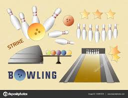 Vectores De Stock De Bowling Party Ilustraciones De Bowling Party