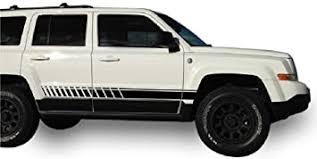 Amazon Com Bubbles Designs Decal Sticker Vinyl Side Sport Stripe Kit Compatible With Jeep Patriot 2007 2017 Black Automotive