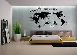 World Map Mural Vinyl Decal Sticker Decor Airplane Vacation Travel Agency Ebay