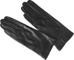 las black leather gloves las