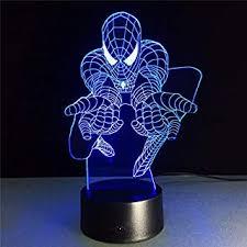 Amazon Com Spiderman Lamp Lamps Lighting Kids Room Decor Home Kitchen
