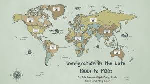Immigration in the late 1800s to 1920s by Ada Barnes