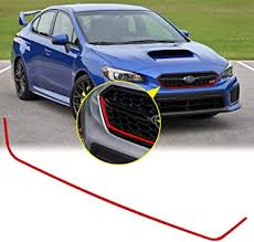 Amazon Com Xotic Tech For Subaru Wrx Sti 2018 2019 2020 Front Grille Pinstripe Vinyl Sticker Glossy Red Styling Front Hood Panel Edge Molding Trim Decal Arts Crafts Sewing