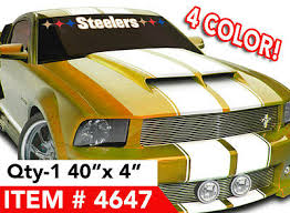 Car Truck Graphics Decals Auto Parts And Vehicles Pittsburgh Steelers Stars Windshield Decal Sticker 40 X4 In 4 Color Megeriancarpet Am