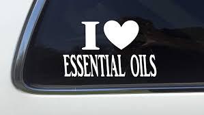 Amazon Com Thatlilcabin I Heart Essential Oils As019 8 Sticker Essential Oil Decal Automotive