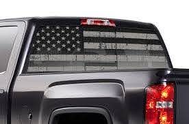 Chevy Silverado Rear Window Decals Subdued Flag Racerx Customs Truck Graphics Grilles And Accessories