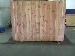 Western Red Cedar Fence Panels 5 8x6x6x8 Okc Fence Panel Builder
