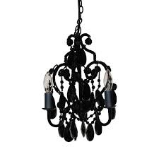3 light black onyx mini chandelier