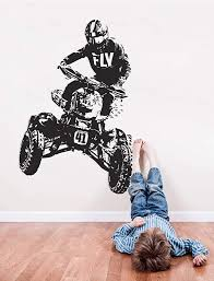 Amazon Com Quad Bike Wall Decal 4 Wheeler Sticker Atv Quad Bike Wall Decor Off Road Quad Bike Kids Room Decor Art All Terrain Decal And Stick Wall Decals Home Kitchen