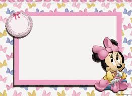 Minnie Bebe Invitacion Y Cajas Para Imprimir Gratis Oh My Bebe