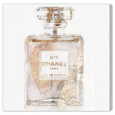 graphic art chanel perfume wrapped canvas